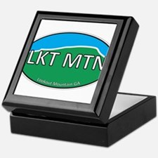 Lookout Mountain GA Green & Blue Euro Keepsake Box