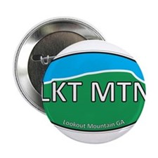 """Lookout Mountain GA Green & Blue Euro 2.25"""" Button"""
