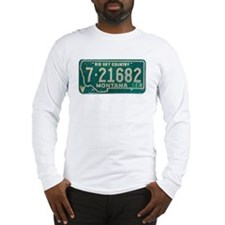 1974 Montana License Plate Long Sleeve T-Shirt