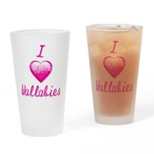 I Love/Heart Wallabies Drinking Glass