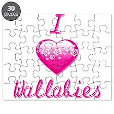 I Love/Heart Wallabies Puzzle
