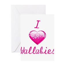 I Love/Heart Wallabies Greeting Card