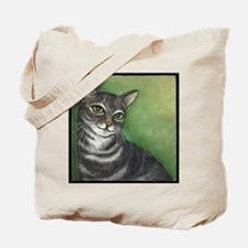 Cat Grey and White Tote Bag