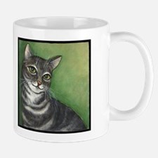 Cat Grey and White Mug