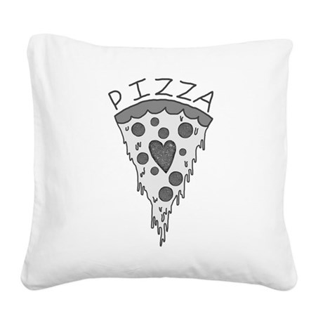 Pizza Lover 2 Square Canvas Pillow