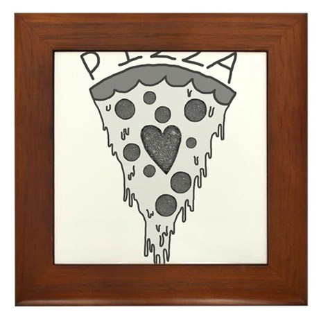 Pizza Lover 2 Framed Tile