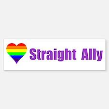 Straight Ally Car Magnet Bumper Bumper Bumper Sticker
