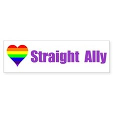 Straight Ally Car Magnet Bumper Bumper Sticker