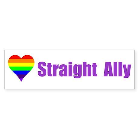 Straight Ally Car Magnet Bumper Sticker