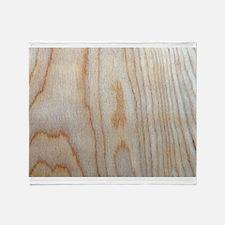 Wood Grain Loves Stain Designer Throw Blanket