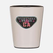 Windansea Boardwalk Badge Shot Glass