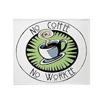 No Coffee Throw Blanket