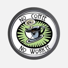 No Coffee Wall Clock