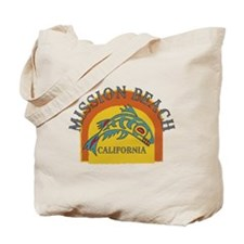 Mission Beach Sunset Fish Tote Bag