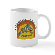 Mission Beach Sunset Fish Mug
