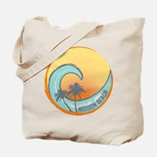 Mission Beach Sunset Crest Tote Bag