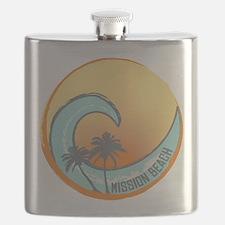 Mission Beach Sunset Crest Flask