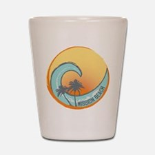 Mission Beach Sunset Crest Shot Glass