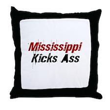 Mississippi Kicks Ass Throw Pillow