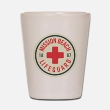 Mission Beach Lifeguard Patch Shot Glass