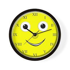 Smiley Roman Numeral Wall Clock