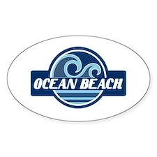 Ocean Beach Surfer Pride Decal