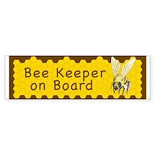 Bee Keeper on Board ~ Bumper Sticker