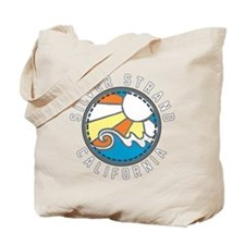 Silver Strand Wave Badge Tote Bag