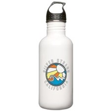 Silver Strand Wave Badge Sports Water Bottle