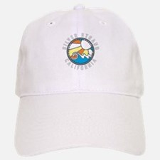 Silver Strand Wave Badge Baseball Baseball Cap