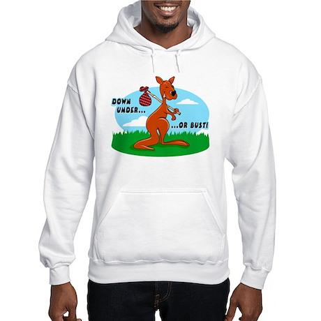 Down Under Or Bust Kangaroo Hooded Sweatshirt