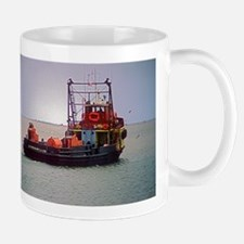 Large Mug With Refitted Supply Boat On Gulf