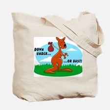 Down Under Or Bust Kangaroo Tote Bag