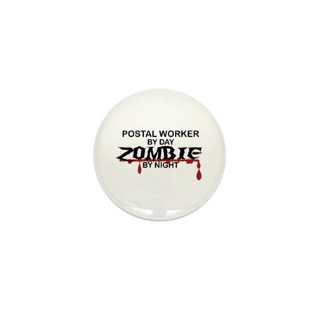 Postal Worker Zombie Mini Button