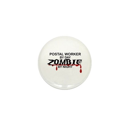 Postal Worker Zombie Mini Button (100 pack)