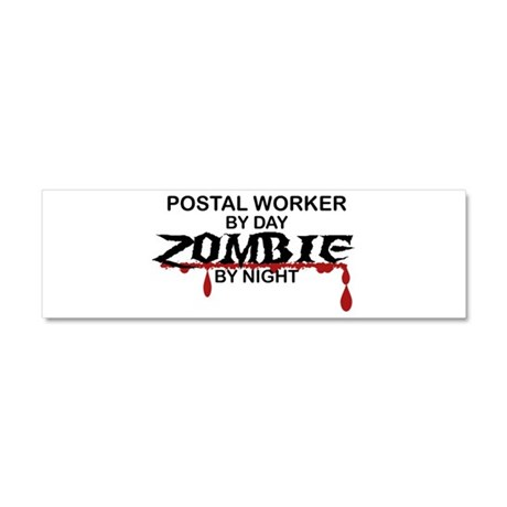 Postal Worker Zombie Car Magnet 10 x 3