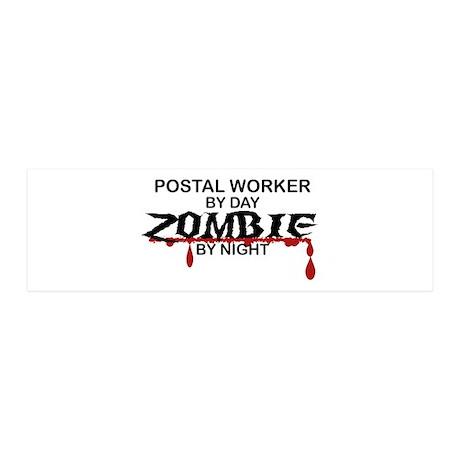 Postal Worker Zombie 20x6 Wall Decal
