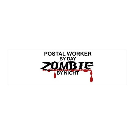 Postal Worker Zombie 36x11 Wall Decal