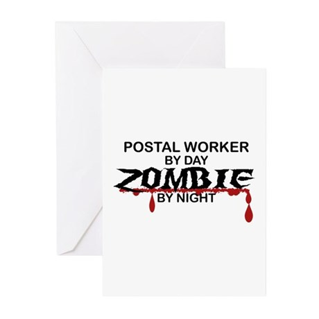 Postal Worker Zombie Greeting Cards (Pk of 10)