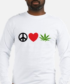 Peace Love Cannabis Long Sleeve T-Shirt