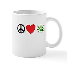 Peace Love Cannabis Mug