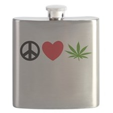 Peace Love Cannabis Flask