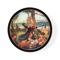 King Arthur in Avalon Wall Clock