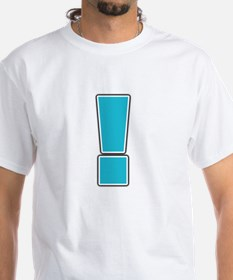 """""""Exclamation Point"""" White T-shirt"""