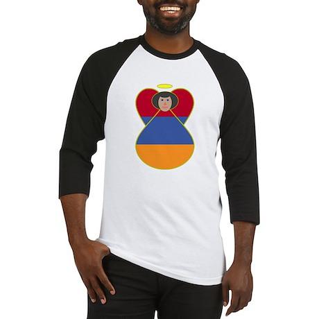 Armenia Flag Angel Black Hair Baseball Jersey