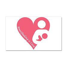 Breastfeeding is Love Car Magnet 20 x 12