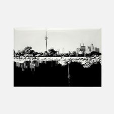 Toronto Reflection B&W Rectangle Magnet