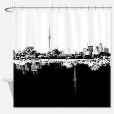 Toronto Reflection B&W Shower Curtain