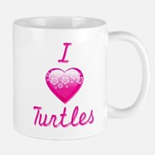 I Love/Heart Turtles Mug