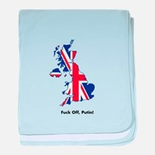 Fuck off, Putin (UK) baby blanket